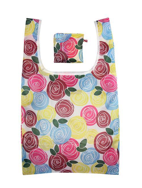 Wholesale Tote Bag - Buy SALE! Red Yellow Blue Rose U-shape Handle
