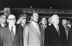 Sadat all'aeroporto Ben Gurion di Tel Aviv