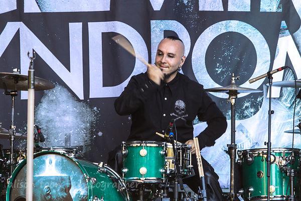Brian Steele Medina, drummer, Gemini Syndrome, Aftershock 2013