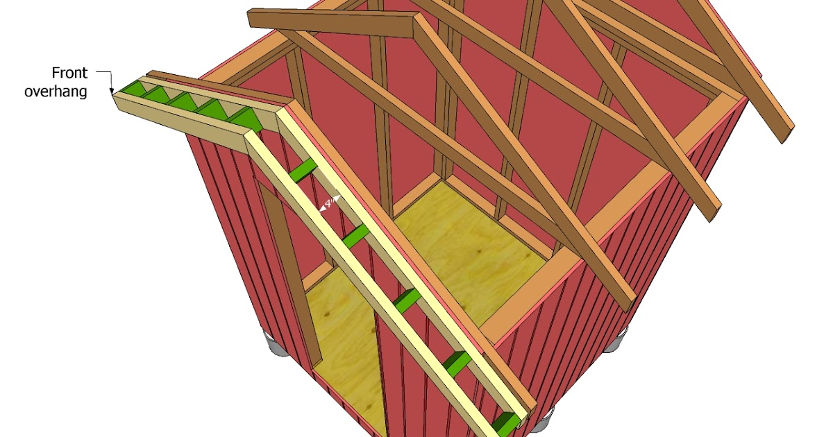 How To Build A Shed Roof Overhang Plan