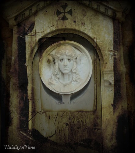 Venice, San Michele cemetery marble face