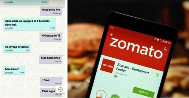 A Guy Made Zomato's Customer Care To Swear On Mother And We Can't Stop Laughing At It