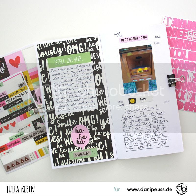 danidori Layout von Julia Klein mit dem Juni Memory Notebook Kit von www.danipeuss.de Scrapbooking Stempeln Mixed Media Kartenbasteln DIY Travelers Notebook Travel Journal
