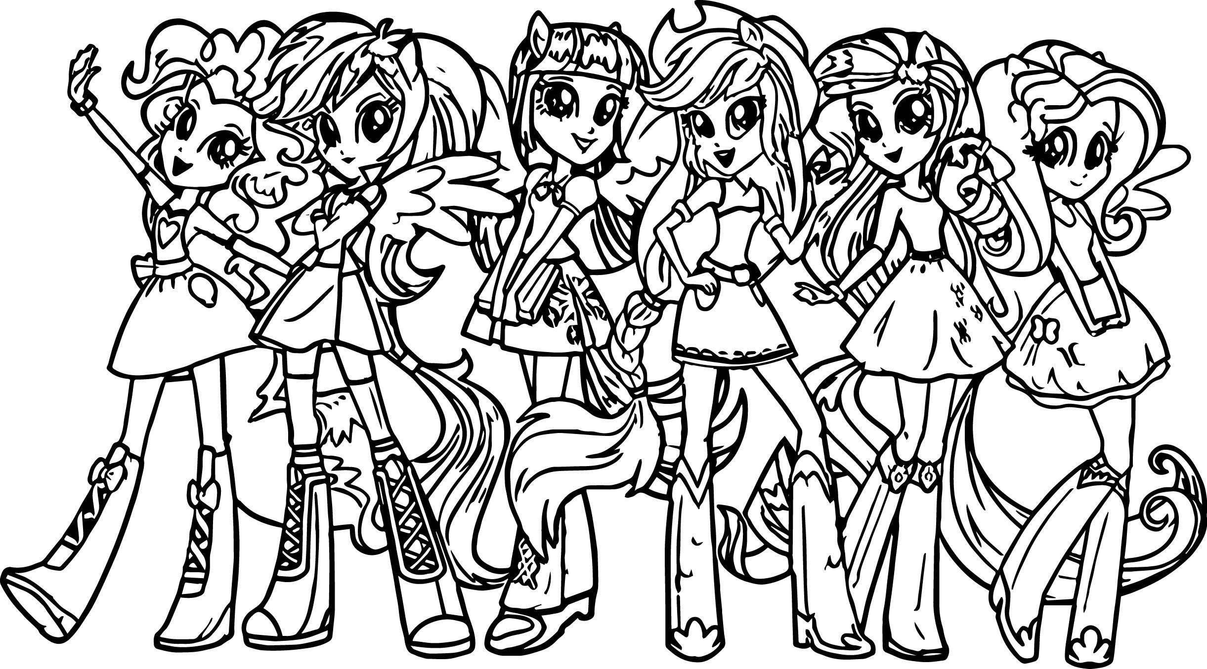 9400 My Little Pony Dazzlings Coloring Pages Pictures