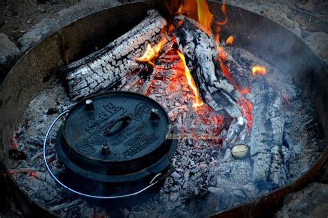 campfire cooking  dutch oven  miles