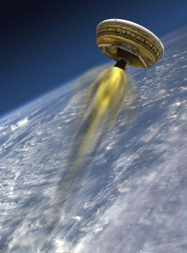 NASA lanzará hoy de nuevo su platillo volante supersónico, síguelo aquí