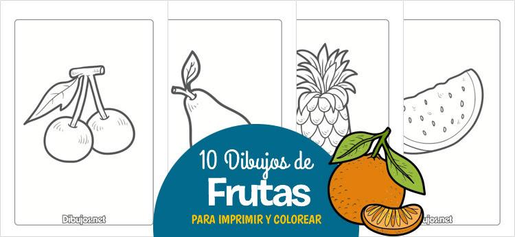 10 Dibujos De Frutas Para Imprimir Y Colorear Dibujos Net
