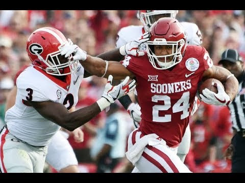Oklahoma Running Back Rodney Anderson vs Georgia - 2018 Rose Bowl