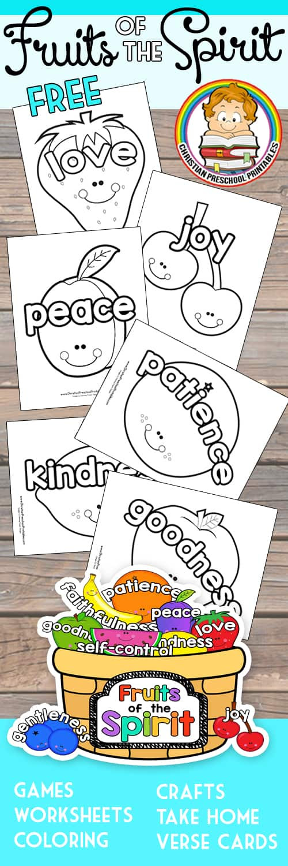 Fruit of the Spirit Printables - Christian Preschool ...