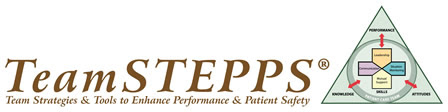 TeamSTEPPS: Team Strategies and Tools to Enhance Patient Safety (banner logo)