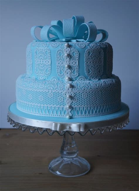 Blue Lace Wedding Cake ? Coppice Cakes & Sugarcraft