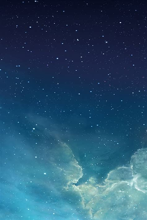 freeios galaxy blue parallax hd iphone ipad wallpaper