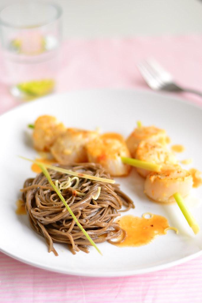 Lemongrass scallops and soba 5
