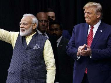 File image of Prime Minister Narendra Modi and US president Donald Trump. PTI
