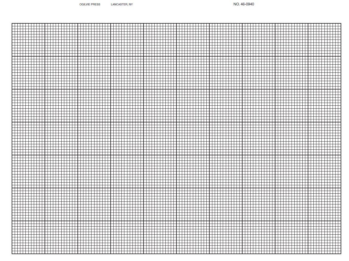 460940 12 x 12 green grid k e graph paper 12th line heavy 8 1 2 x 11 pkg 100 8