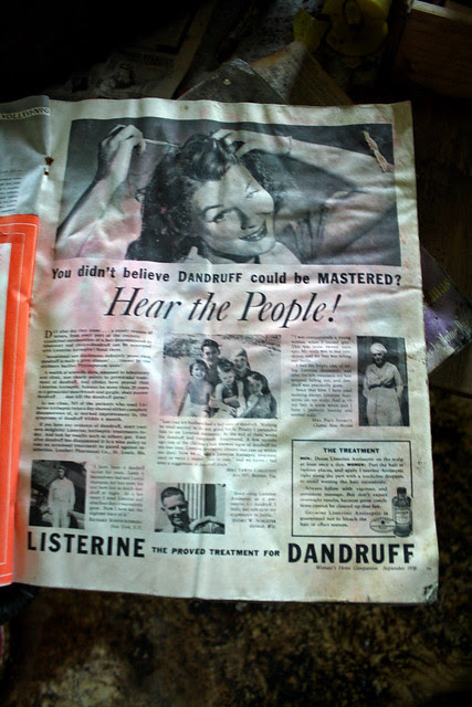Listerine. The proved treatment for dandruff.