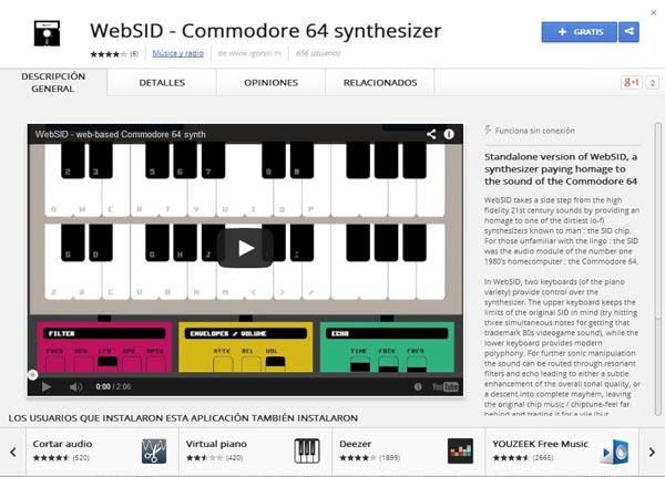 WebSID Commodore64