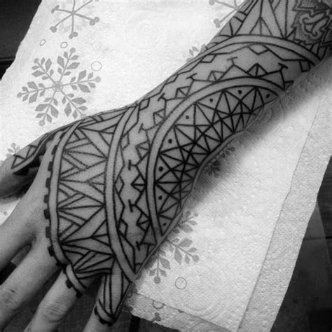 tribal hand tattoos men manly ink design ideas