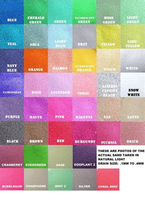 1/2 lb Bags Unity Sand 150 Colors Available   Etsy
