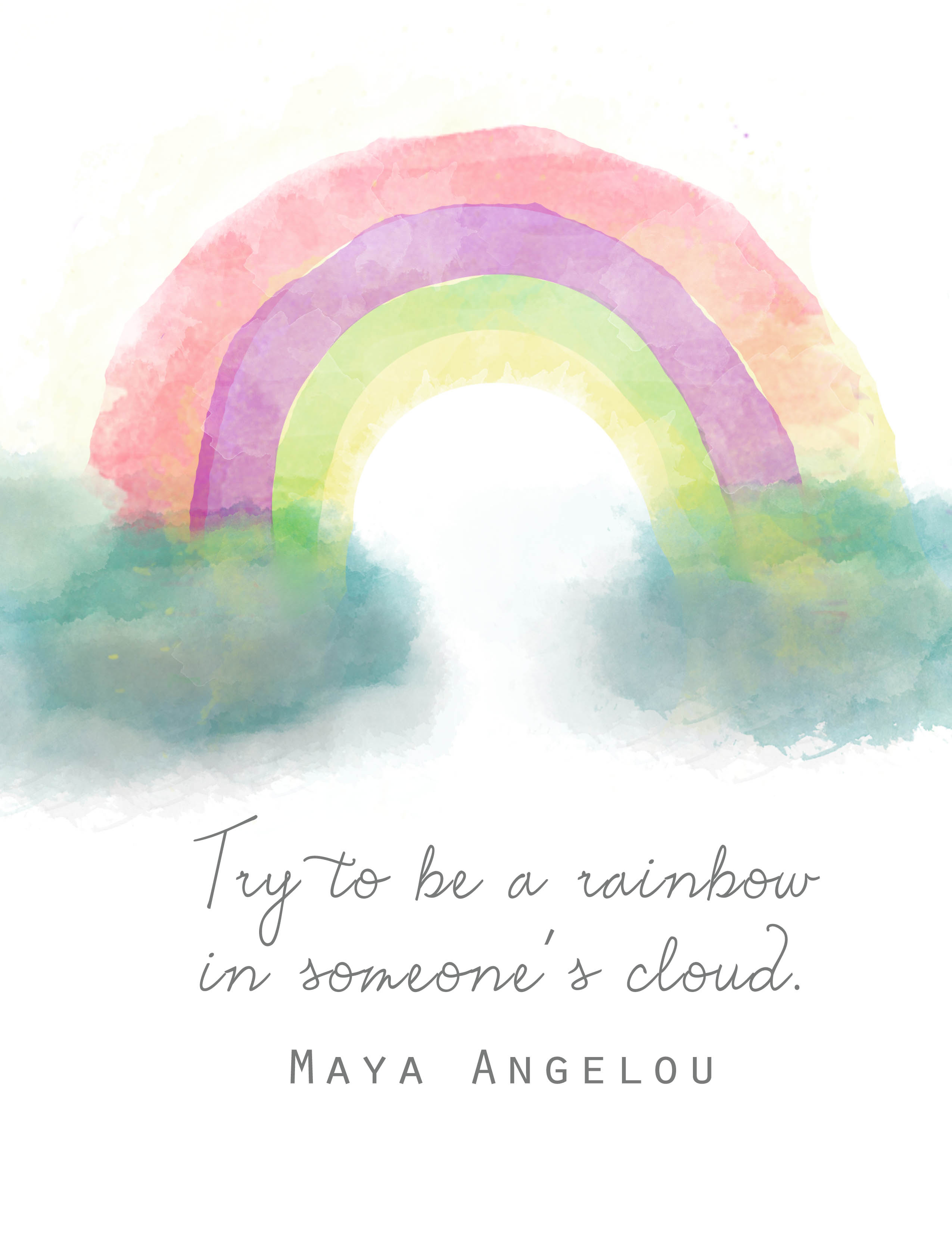 Being A Rainbow Maya Angelou Clumsy Crafter