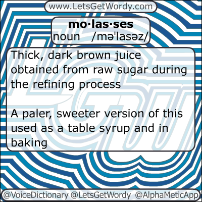 Molasses 01/15/2013 GFX Definition of the Day