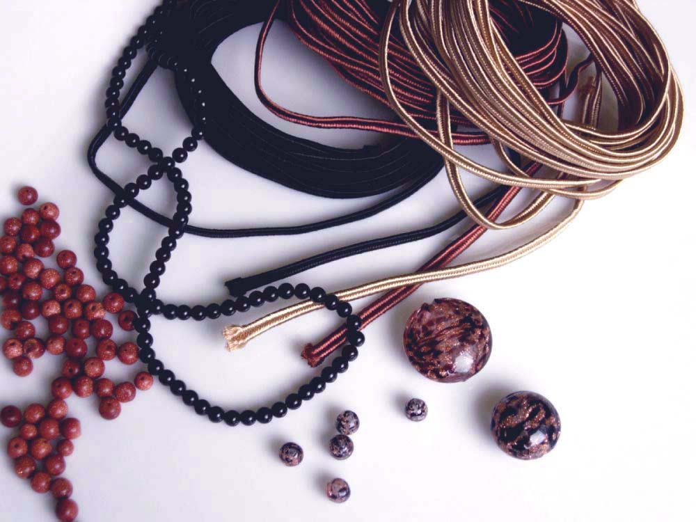 Anneta Valious. Bracelet made from soutache and beads Step 1