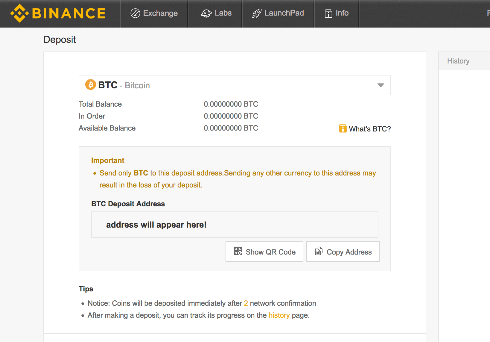 create bitcoin website