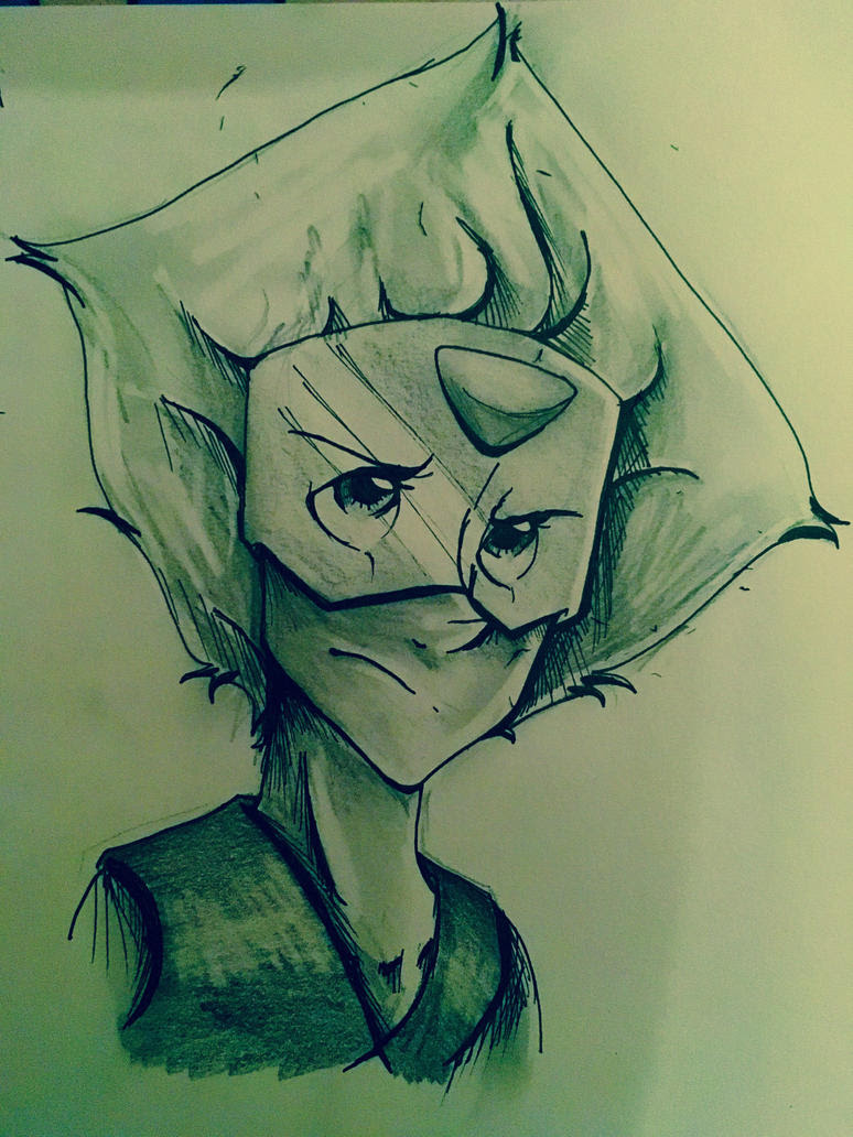 Peridot from Steven Universe x3 I'm slowly growing to like this character, I honestly found her annoying at first but she's rather cute >.<