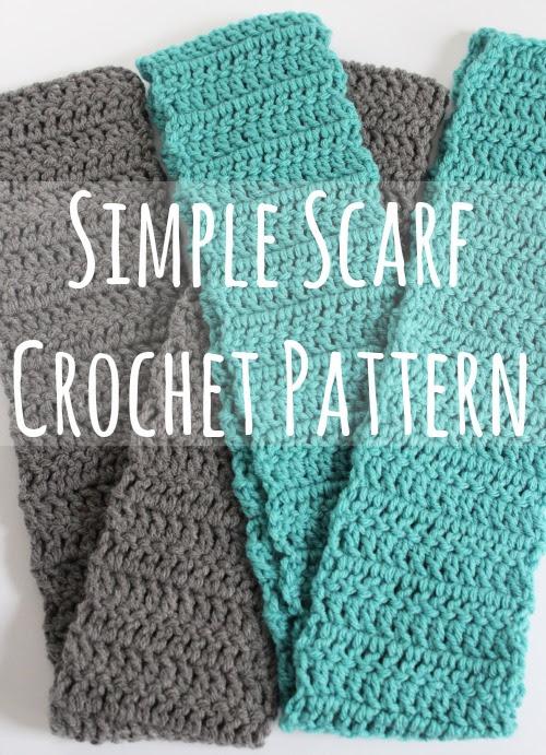 Simple Scarf Crochet Pattern makeandtakes.com