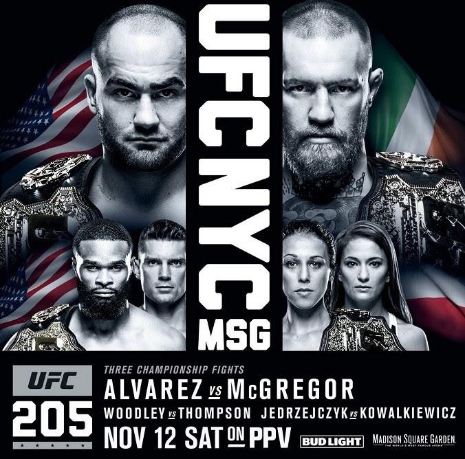 Pôster oficial do UFC 205 (Foto: Reprodução)