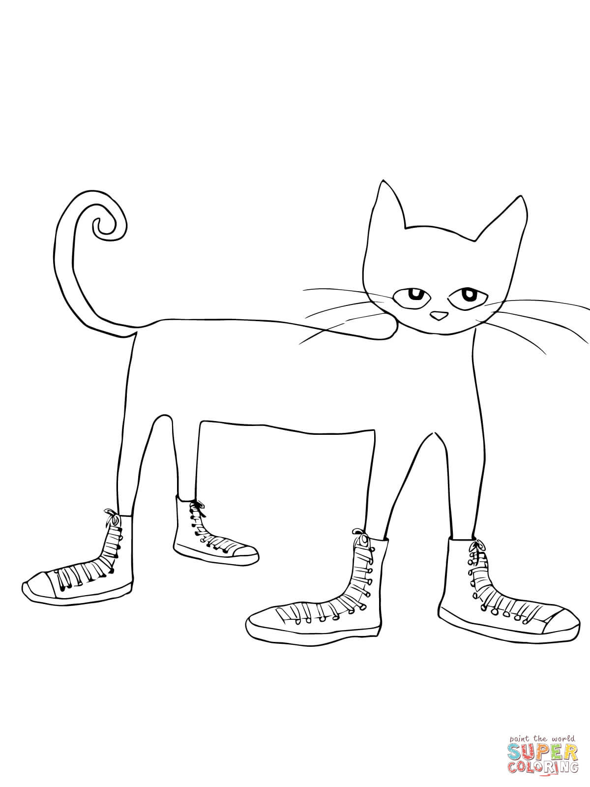 Pete the Cat I Love my White Shoes coloring page | Free ...