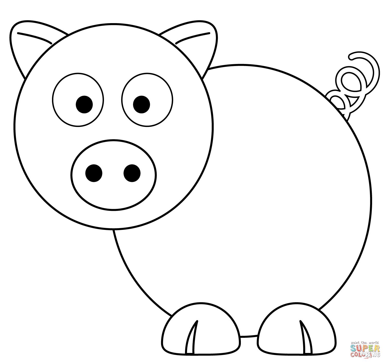 Dibujo De Dibujo De Cerdo Para Colorear Dibujos Para Colorear