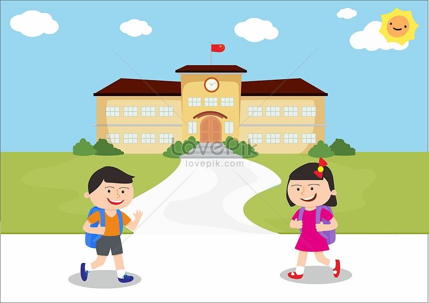 Mirzan Blog S 20 Inspirasi Gambar Anak Pergi Ke Sekolah Kartun