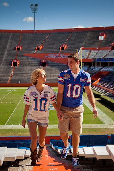 engagement pictures at your teams stadium, I'll remember this when I marry Tim Tebow.