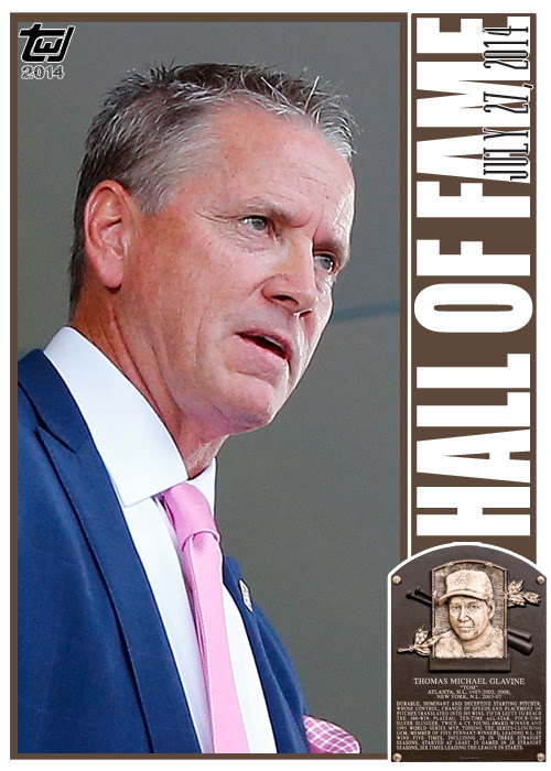 "twjcards:<br /><br />A member of one of the greatest pitching staffs, Tom Glavine is one of the best left handed pitchers to ever take the field. Glavine was immortalized by the National Baseball Hall of Fame today, selected by 91.9% of the voters for enshrinement.<br />Congratulations, Tom Glavine.<br />Special card, unnumbered, Tom Glavine, ""HALL OF FAME.""<br />The Writer's Journey<br />"