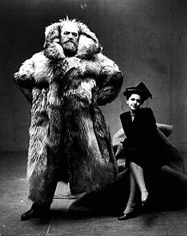 Irving Penn (USA), Peter Freuchen og Dagmar Freuchen Gale, 1947