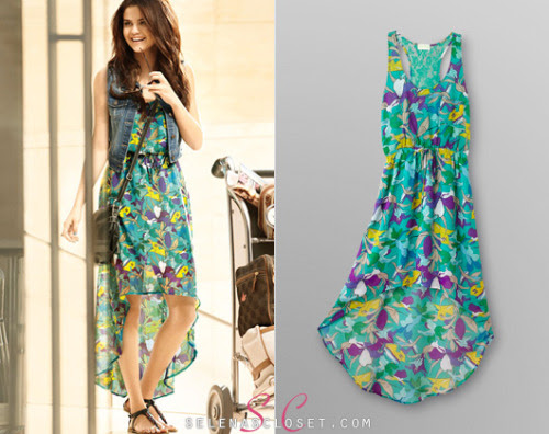 In the new Dream Out Loud Spring 2013 campagin, Selena Gomez showed off this cute Dream Out Loud Floral High Low dress in color ceramic. You can find it on kmart.com for only $20.  Buy it HERE