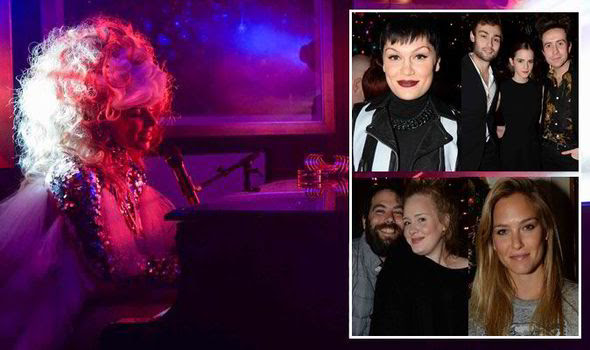 Lady Gaga wows A-list audience in a sexy pink leotard at exclusice Belvedere charity bash