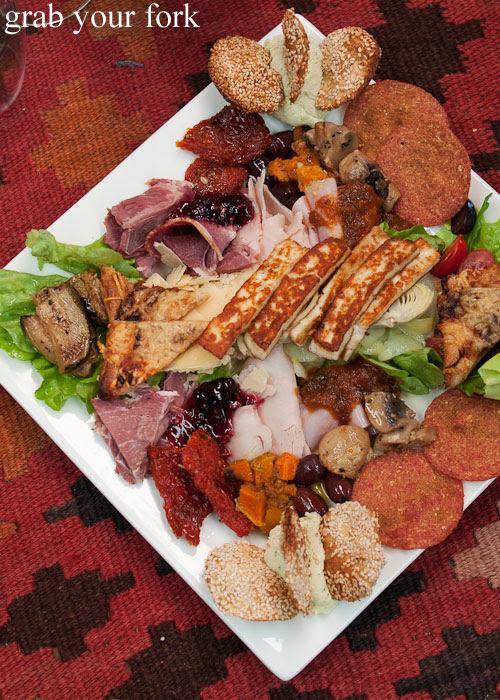 Tasting plate at Chapman River Wines cellar door, Kangaroo Island