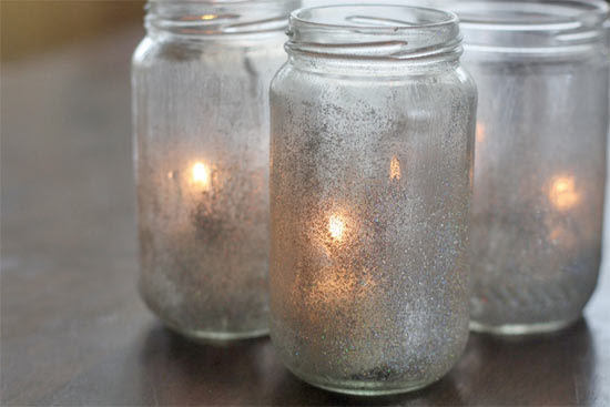 glitter Votive Lamps Glitter and Mod Podge Votive Lamps