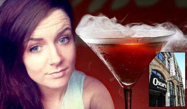Gaby Scanlon was celebrating her 18th birthday at a bar in Lancaster when she had the drink and began to feel breathless.