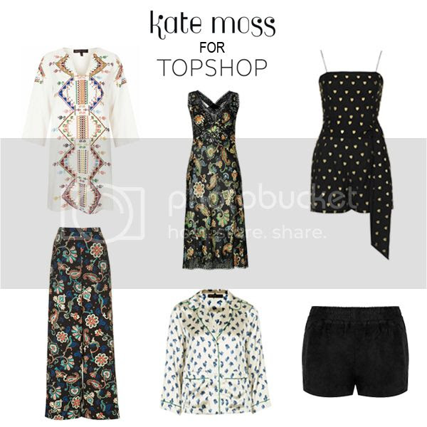 Kate Moss for Topshop lookbook collection April 2014