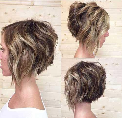 Messy Bob Haircut For Hear Face Shape Short Hairstyles 2016 Haircuts