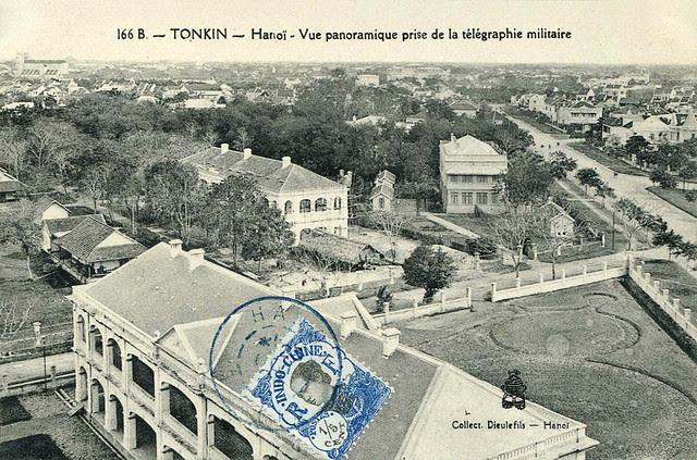 TONKIN - HANOI - Panoramic view from the military telegraphic tower