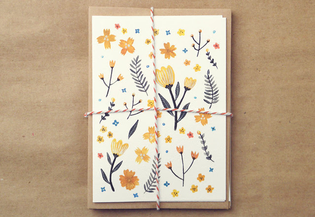 Floral Greeting Card Set