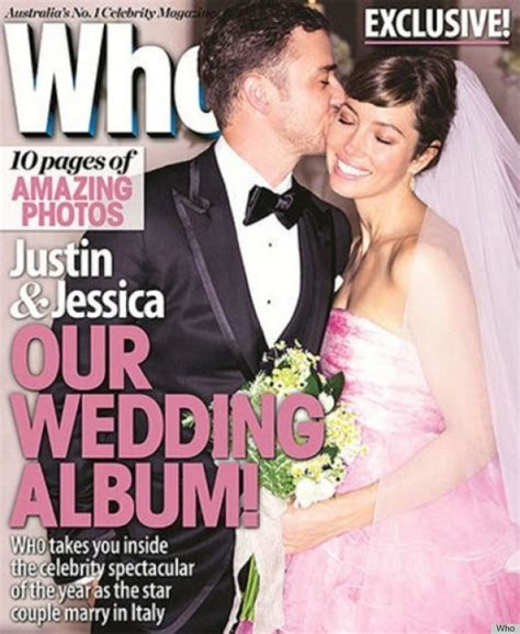 Jessica Biel Explains That Pink Wedding Dress To Elle