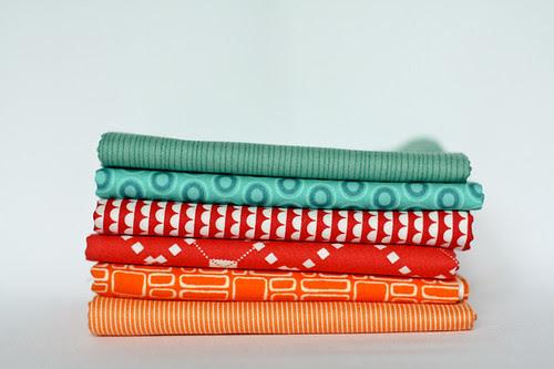 Blue-green, Red, Orange by jenib320
