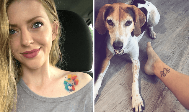 22 Really Cool Paw Print Tattoos For Dog People
