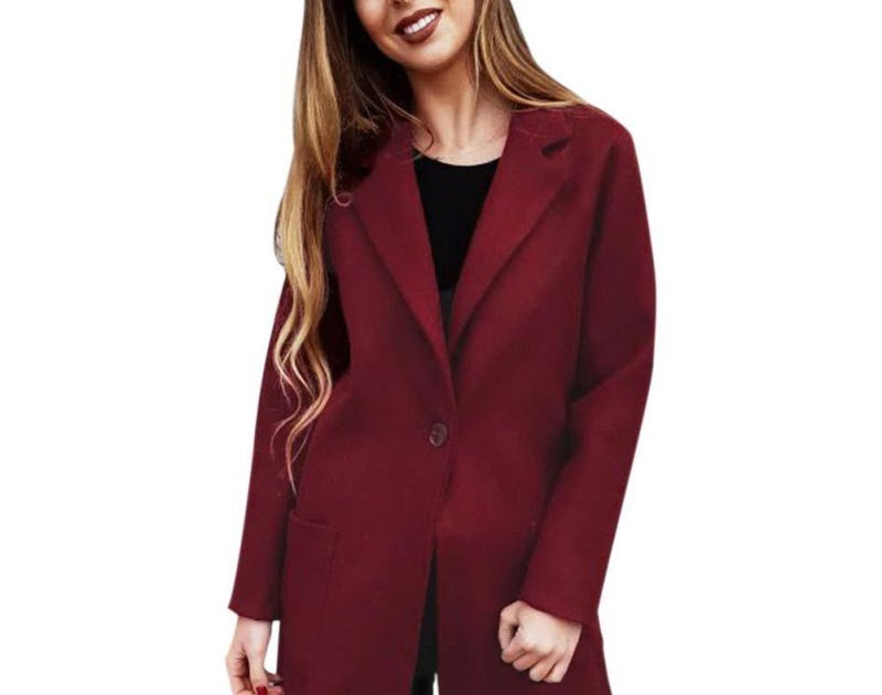 Goede Koop Rood Roze Lange Jassen Vrouwen Winter Tops