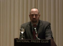 Daniel Rosen speaks at a 2012 terrorism review event. The 45-year-old was arrested Tuesday, accused of attempting to solicit sex from a minor.